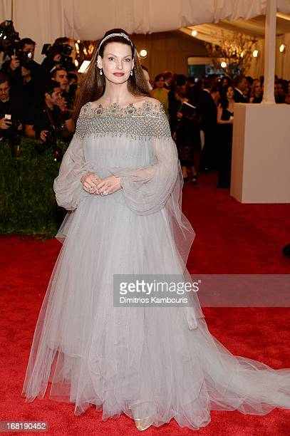 """Linda Evangelista attends the Costume Institute Gala for the """"PUNK: Chaos to Couture"""" exhibition at the Metropolitan Museum of Art on May 6, 2013 in..."""