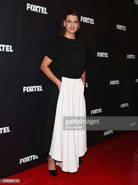Linda Evangelista attends the Foxtel season launch at Sydney Theatre on October 30 2014 in Sydney Australia