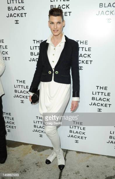 Linda Evangelista attends The Little Black Jacket: CHANEL's Classic Revisited By Karl Lagerfeld and Carine Roitfeld New York Exhibition Celebration...