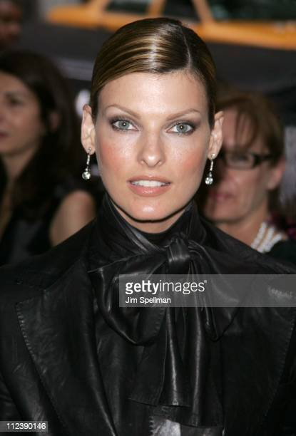 Linda Evangelista during 2005 CFDA Fashion Awards Outside Arrivals at New York Public Library in New York City New York United States