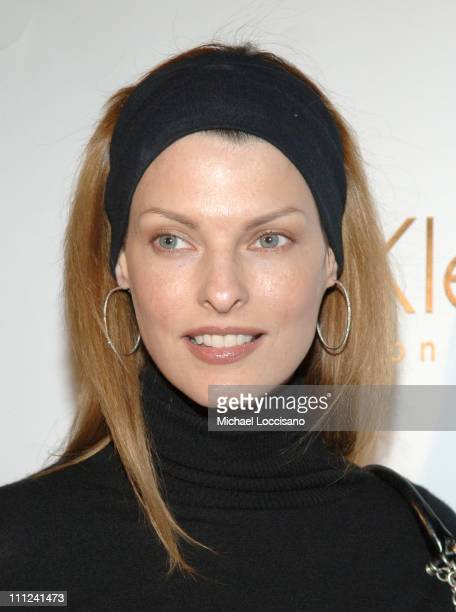 """Linda Evangelista during Calvin Klein, Inc. And Bryan Adams Host the Launch of His New Photography Book """"American Women"""" at The Calvin Klein..."""