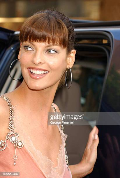 Linda Evangelista during Canada's Walk of Fame at Roy Thomson Hall in Toronto Canada