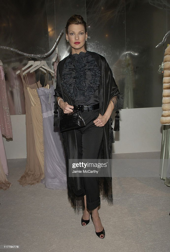 Linda Evangelista during CFDA 7th on Sale Kick-Off - Red Carpet and Inside at Sky Light Studios in New York City, New York, United States.