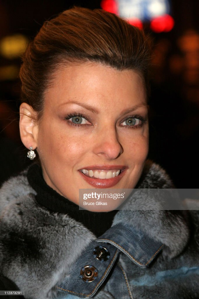 Linda Evangelista during 'Chita Rivera: The Dancer's Life' Broadway Opening Night - Arrivals at The Gerald Schoenfeld Theatre in New York City, New York, United States.