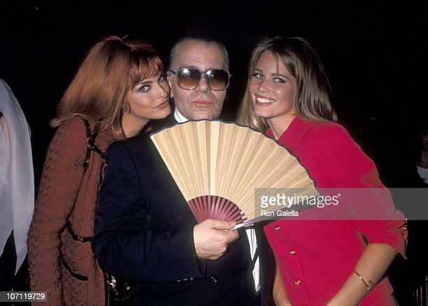 Linda Evangelista Karl Lagerfeld and Claudia Schiffer