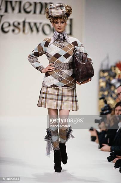 Linda Evangelista Modeling Vivienne Westwood Outfit