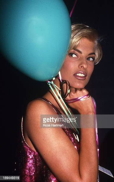 Linda Evangelista Versace fashion show Rock 'n' Rule Benefit after party Park Avenue Armory New York New York 1992
