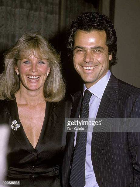 Linda Evans and George Santo Pietro during Wrap Party for the 3rd Season of 'Dynasty' March 6 1983 at Beverly Wilshire Hotel in Beverly Hills...