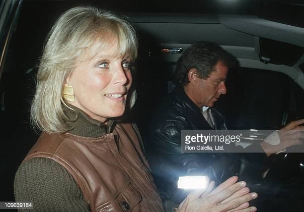 Linda Evans and Richard Cohen during Linda Evans Sighting at Spago in Hollywood March 20 1987 at Spago Restaurant in Hollywood California United...