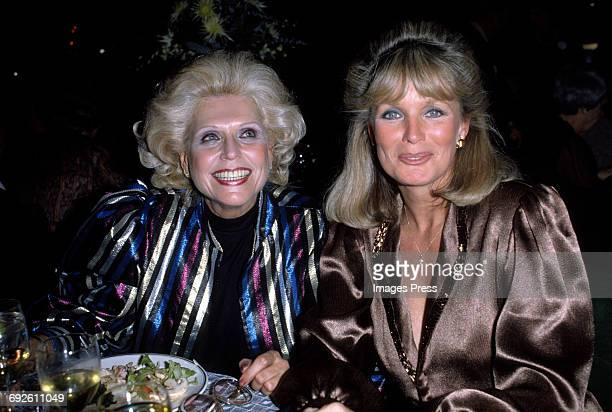 Linda Evans and Weight Watchers founder Jean Nidetch circa 1983 in New York City