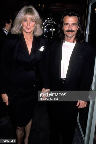 Linda Evans and Yanni during Reebok Shoes Launch at Jimmy's in Beverly Hills California United States