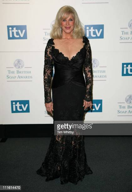 Linda Evans during British Soap Awards 2006 Press Room at BBC Television Centre in London Great Britain