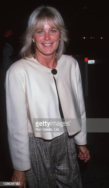Linda Evans during Linda Evans Sighted at Los Angeles International Airport October 8 1989 at Los Angeles International Airport in Los Angeles...