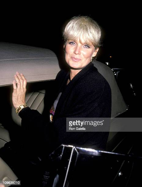 Linda Evans during Linda Evans Sighting at Spago in Hollywood February 16 1986 at Spago in West Hollywood California United States