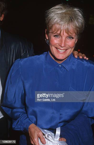 Linda Evans during Linda Evans Sighting at Spago in Hollywood December 8 1985 at Spago Restaurant in Hollywood California United States