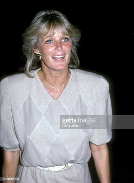 Linda Evans during Linda Evans Sighting at Spago in Hollywood August 20 1986 at Spago in West Hollywood California United States