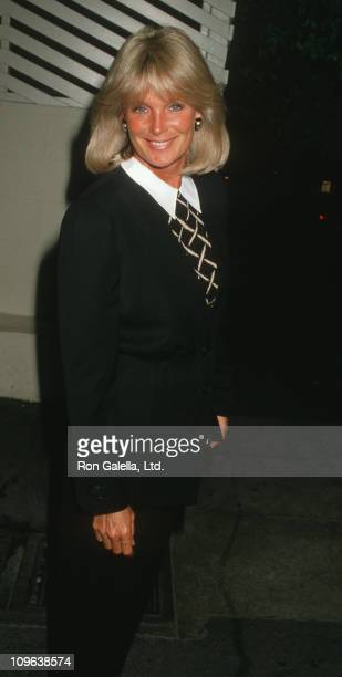 Linda Evans during Linda Evans Sighting at Spago in Hollywood - March 23, 1988 at Spago Restaurant in Hollywood, California, United States.