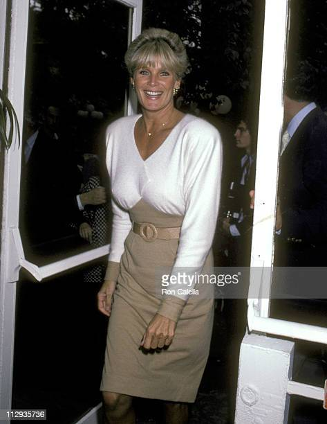Linda Evans during Press Conference for Linda Evans' Fragrance Carrington at Tavern on the Green in New York City New York United States