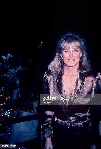 Linda Evans in brown satin circa 1970 New York