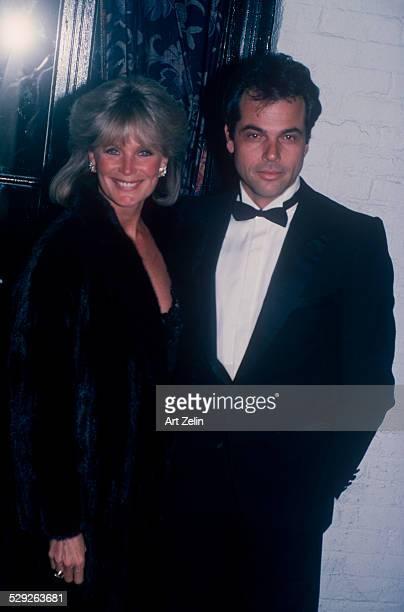 Linda Evans with George Santo Pietro wearing fur circa 1970 New York