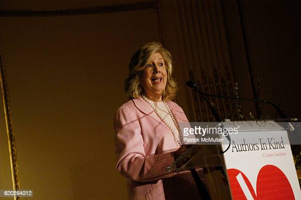 Linda Fairstein attends Authors In Kind Literary Luncheon Benefiting GOD'S LOVE WE DELIVER at The Plaza Hotel on April 17 2008 in New York City