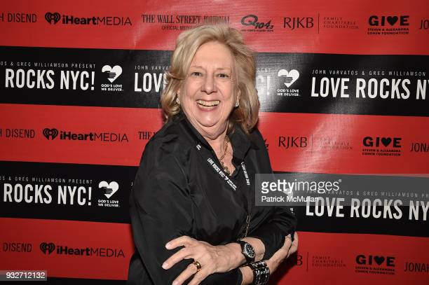 Linda Fairstein attends the Love Rocks NYC PreConcert Cocktail at CESCA Restaurant on March 15 2018 in New York City