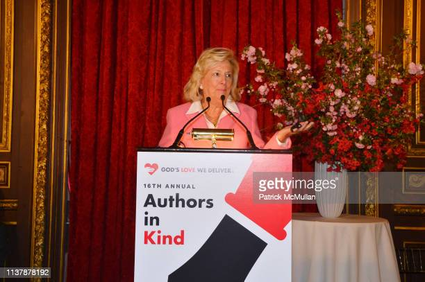 Linda Fairstein speaks at The 16th Annual Authors In Kind Benefiting God's Love We Deliver at The Metropolitan Club on April 17 2019 in New York City