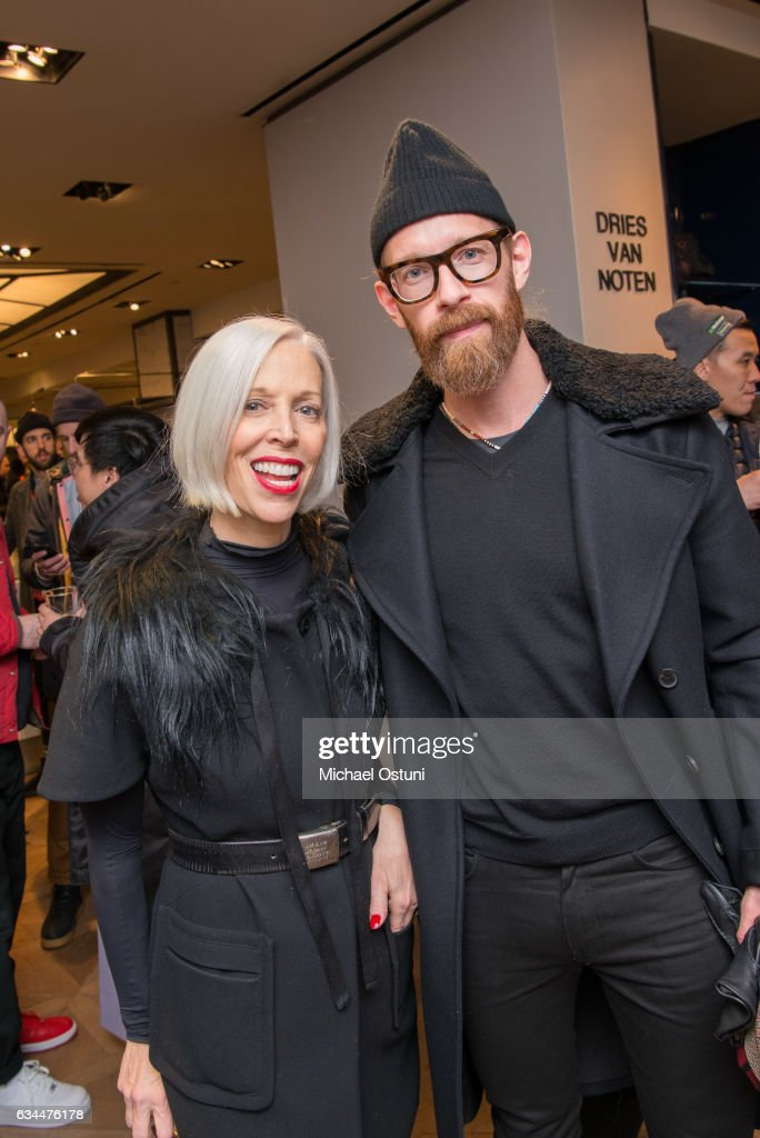 Linda Fargo and Bjorn Wallander attend Bergdorf Goodman Celebrates the New NikeLab Opening in Goodman's Men's Store at on February 9, 2017 in New York City.
