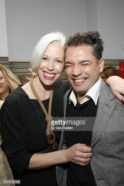 Linda Fargo and Carlos Mota during The Launch of Carlos Mota for Villency Atelier Hosted by Eric Villency and Margaret Russell - November 15, 2006 at...