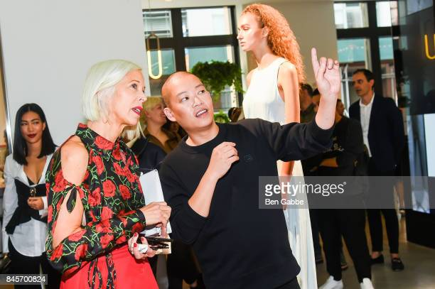 Linda Fargo and designer Jason Wu attend the Grey Jason Wu Presentation during New York Fashion Week at the Cadillac House on September 11 2017 in...