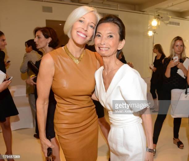 Linda Fargo and fashion designer Josie Natori attend the Josie Natori show during MercedesBenz Fashion Week Spring 2014 on September 4 2013 in New...