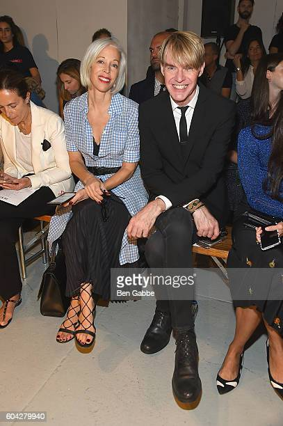 Linda Fargo and Ken Downing attend the Rodarte fashion show during New York Fashion Week September 2016 at Center 548 on September 13 2016 in New...