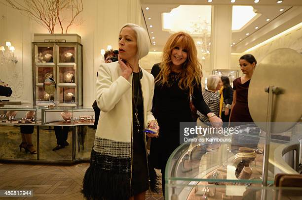 Linda Fargo and makeup artist Charlotte Tilbury attend Charlotte Tilbury Arrives In America VIP Beauty Launch event presented by Bergdorf Goodman 5th...