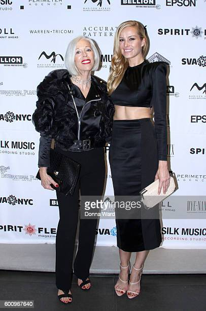 Linda Fargo and Petra Nemcova appear to launch first Public Art Display On Madison Avenue on September 8 2016 in New York City