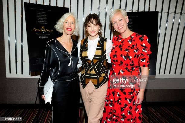 Linda Fargo Ashleigh Cummings and Darcy Penick attend Bergdorf Goodman And Warner Bros Host A Special Screening Of The Goldfinch on September 3 2019...