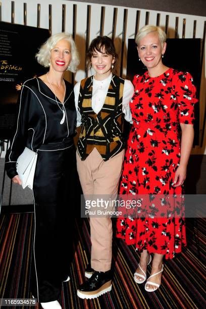 Linda Fargo Ashleigh Cummings and Darcy Penick attend Bergdorf Goodman And Warner Bros Host A Special Screening Of The Goldfinch at Cinema 123 on...