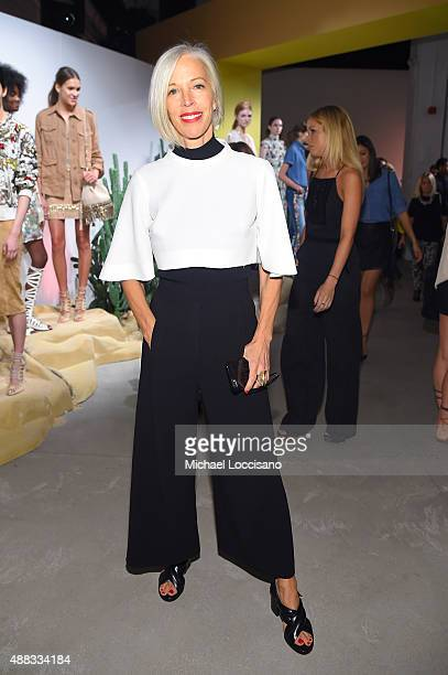 Linda Fargo attends Alice Olivia By Stacey Bendet Spring 2016 during New York Fashion Week The Shows at The Gallery Skylight at Clarkson Sq on...