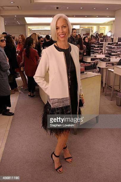 Linda Fargo attends Charlotte Tilbury Arrives In America VIP Beauty Launch event presented by Bergdorf Goodman 5th Avenue on October 7 2014 in New...