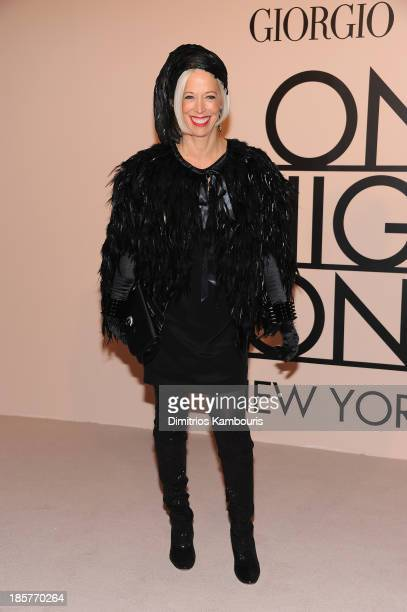 Linda Fargo attends Giorgio Armani One Night Only NYC at SuperPier on October 24 2013 in New York City
