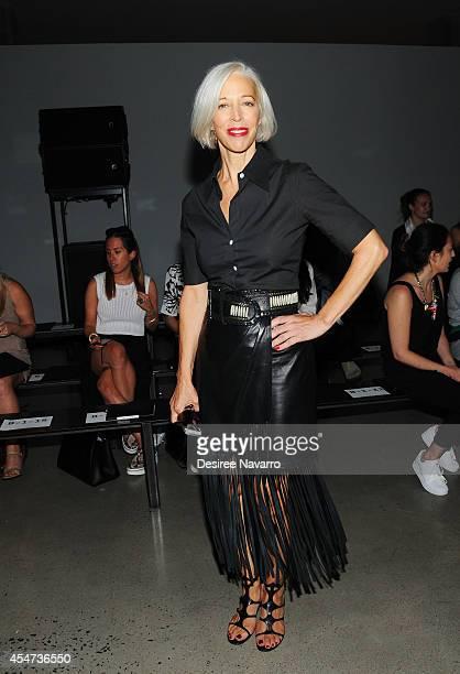 Linda Fargo attends Sally Lapointe during MercedesBenz Fashion Week Spring 2015 at Skylight Modern on September 5 2014 in New York City
