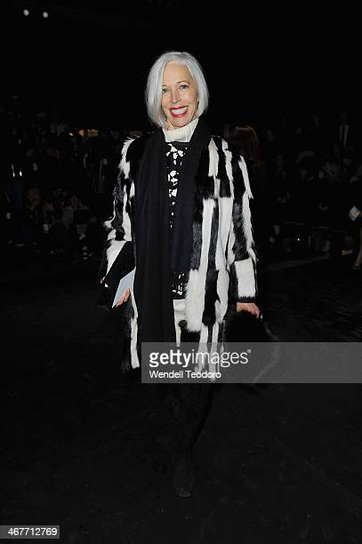 Linda Fargo attends the Helmut Lang show during MercedesBenz Fashion Week Fall 2014 at 545 West 22nd Street on February 7 2014 in New York City
