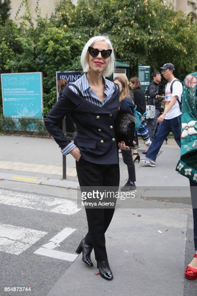 Linda Fargo attends the Maison Margiela show as part of the Paris Fashion Week Womenswear Spring/Summer 2018 on September 27 2017 in Paris France
