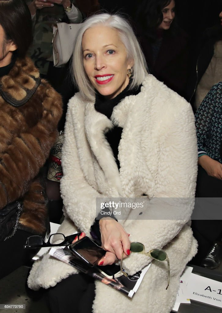 Linda Fargo attends the Tibi fashion show during New York Fashion Week on February 11, 2017 in New York City.