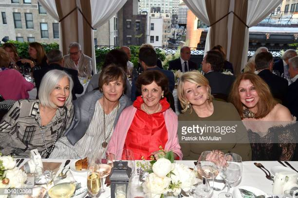 Linda Fargo EJ Camp Sally Bedell Smith Martha Stewart and Pat Kerr Tigrett at James D Dunning Jr's Birthday at The NoMad Hotel on June 7 2017 in New...