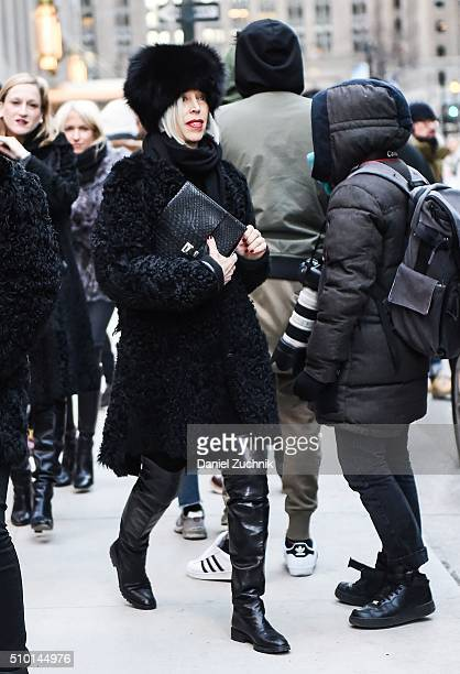 Linda Fargo is seen outside the Alexander Wang show during New York Fashion Week Women's Fall/Winter 2016 on February 13 2016 in New York City