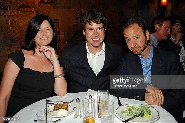 Linda Fiorentino Adam Davies and Fisher Stevens attend Luncheon to Launch ADAM DAVIES book GOODBYE LEMON at Elaines on July 25 2006 in New York City