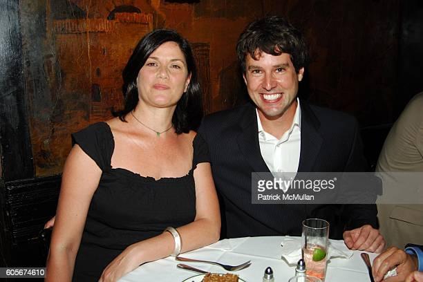 Linda Fiorentino and Adam Davies attend Luncheon to Launch ADAM DAVIES book GOODBYE LEMON at Elaines on July 25 2006 in New York City