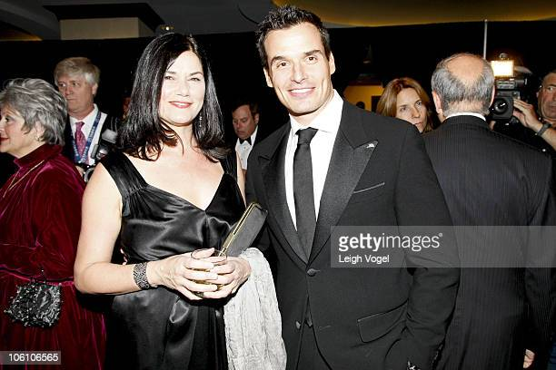 Linda Fiorentino and Antonio Sabato Jr attend The National Italian American Foundation's 35th Anniversary Awards Gala at Washington Hilton on October...