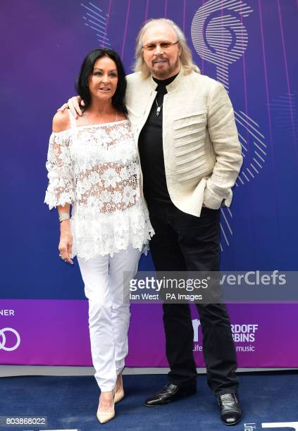 Linda Gibb and Barry Gibb attending the O2 Silver Clef Awards 2017 with the support of Nordoff Robbins held at the Grosvenor House Hotel London