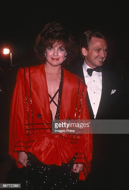 Linda Gray and Bob Mackie circa 1983 in New York City